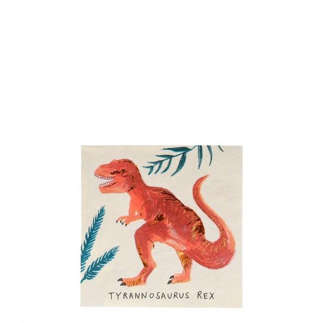 Meri Meri - Salvete dinosaurus male