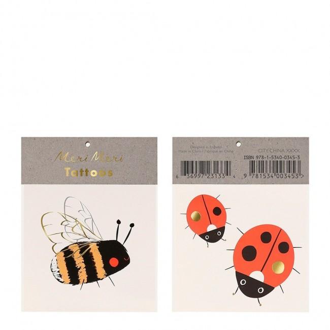 Meri Meri - Tetovaže pčelica i bubamara