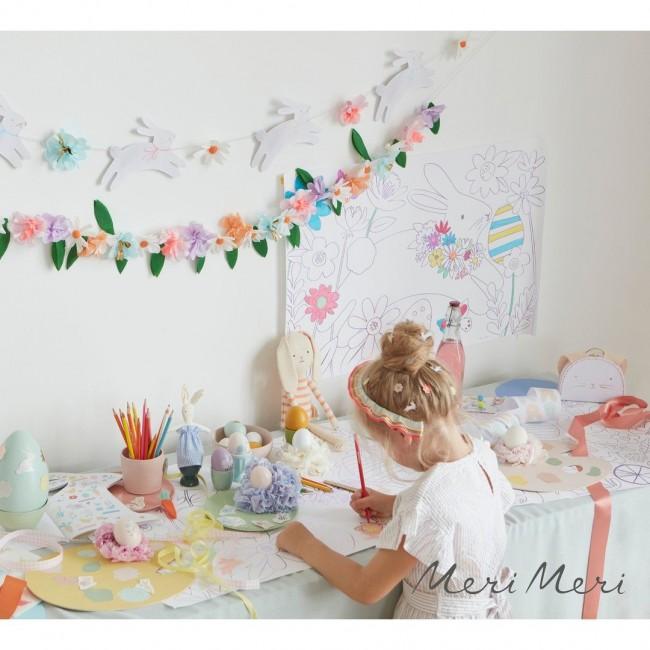 Meri Meri - Garland Uskršnji zeka cvetni
