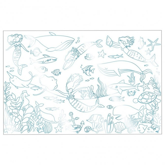 Meri Meri - Posteri za bojenje sirena