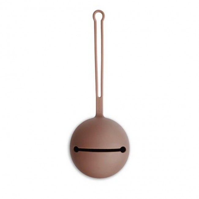 Mushie - Silikonska kutija za dudu mauve