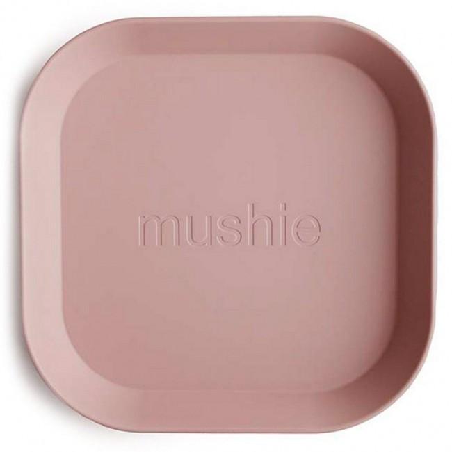 Mushie - Kvadratni tanjir blush