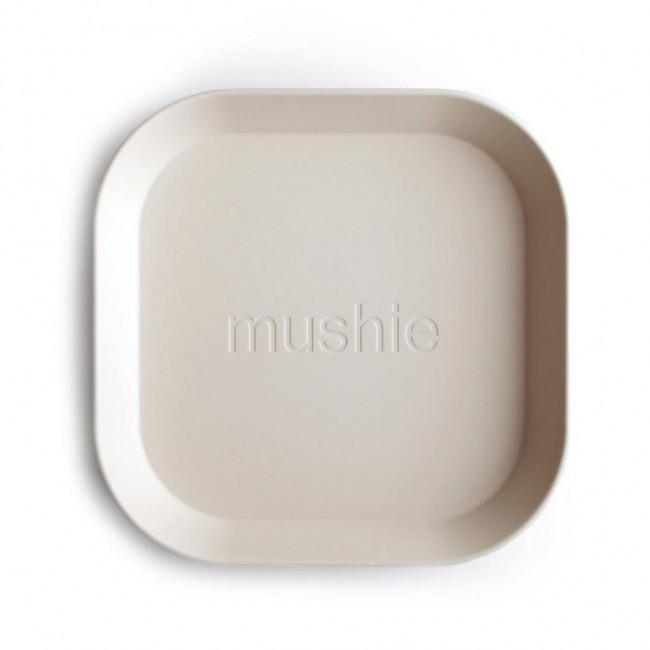 Mushie - Kvadratni tanjir ivory