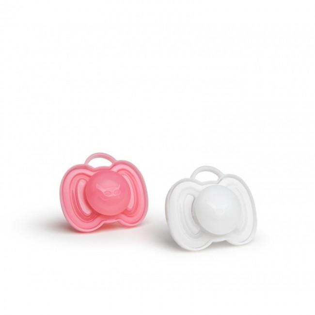 Herobility - HERO PACIFIER varalica 0m+ (2pack) pink/white
