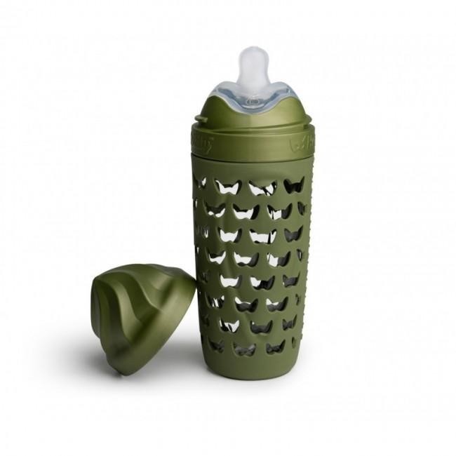 Herobility - HERO ECO BABY flašica 320ml - 11oz forest green