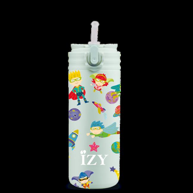 Izy bottles - IZY KIDS - 350 ml - Green Superhero