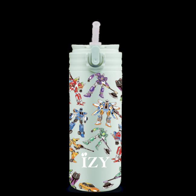 Izy bottles - IZY KIDS - 350 ml - Green Transformers