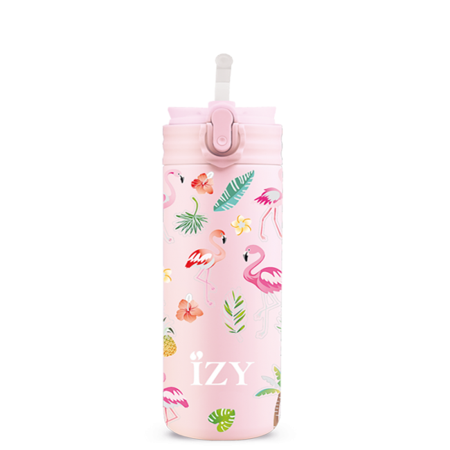 Izy bottles - IZY KIDS - 350 ml - Pink Flamingo