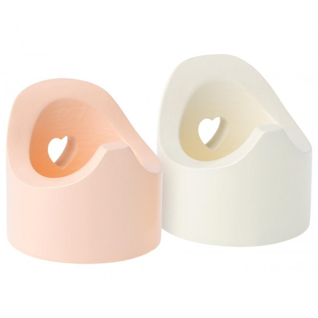 Maileg - Noša za mišiće, roze/bela