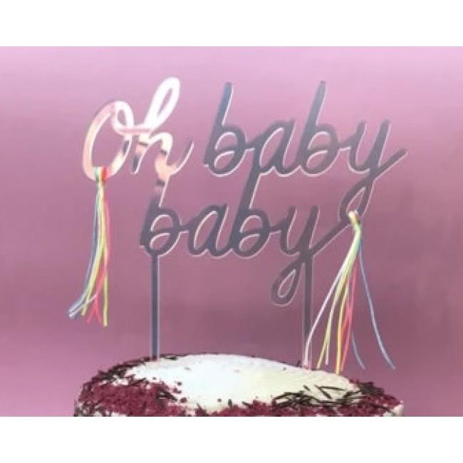 Meri Meri - Toper za tortu akrilni Oh baby baby