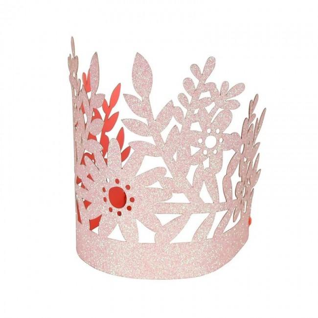 Meri Meri - Party kapice roze krunice