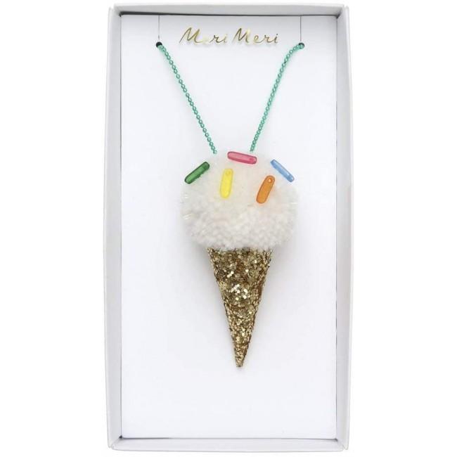 Meri Meri - Ogrlica sladoled pom pom