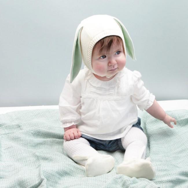 Meri Meri - Kapica za bebe zeka mint