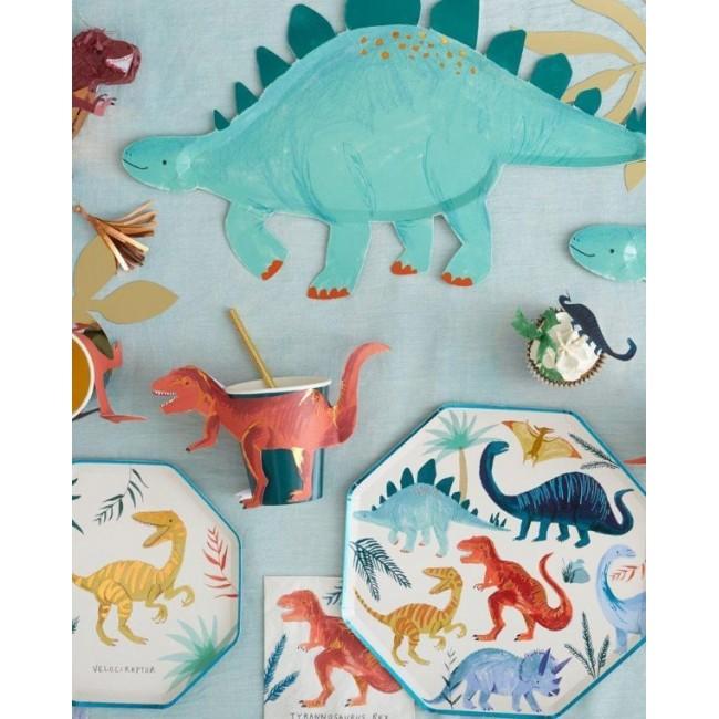 Meri Meri - Kartonski tanjiri dinosaurusi