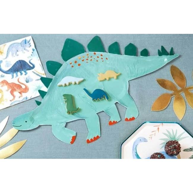 Meri Meri - Kartonski tanjirići stegosaurus