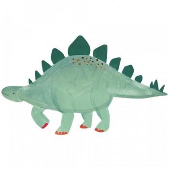 Meri Meri - Kartonski tanjiri stegosaurus