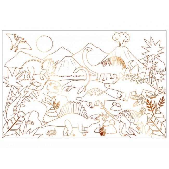 Meri Meri - Poster za bojenje dinosaurus