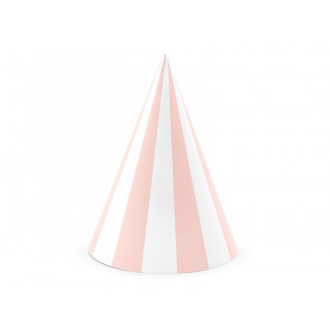 Party Deco - Kapice na pruge, svetlo roze