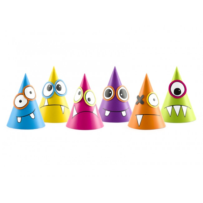 Party Deco - Party kapice Monsters