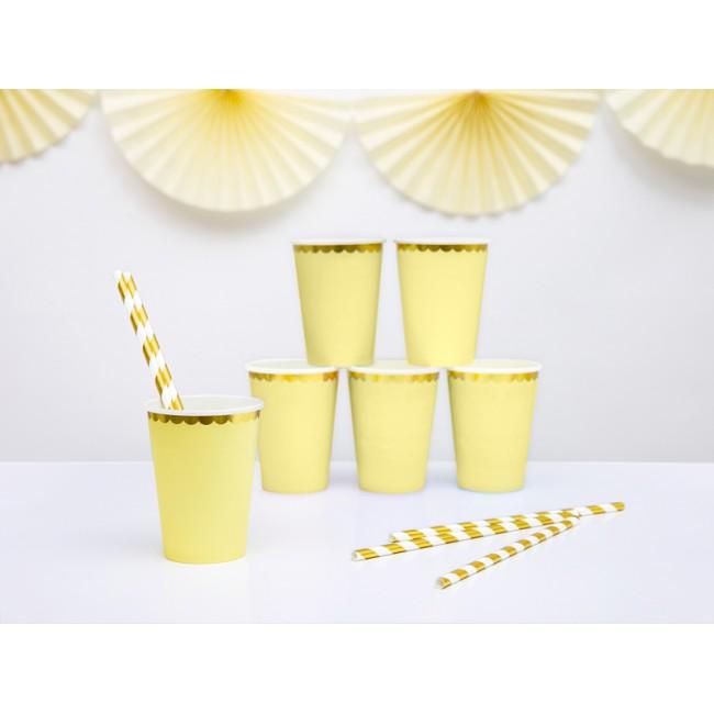 Party Deco - Čaše svetlo žute