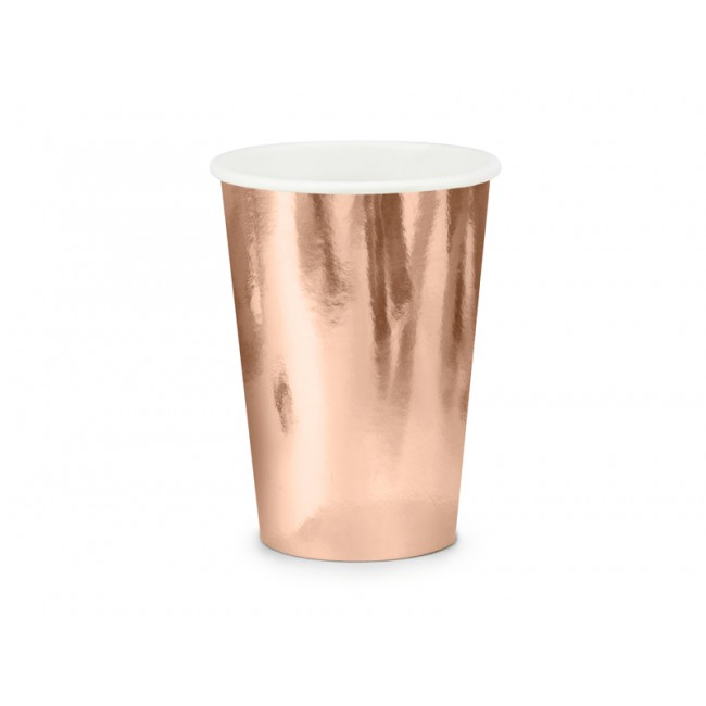 Party Deco - Čaše tufne, roze zlatne