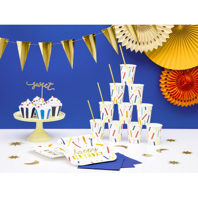 Party Deco - Čaše Happy Birthday mix