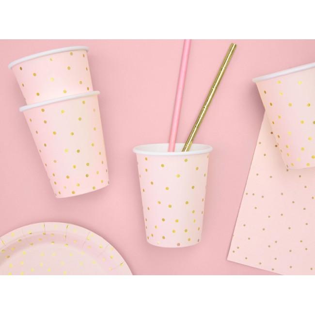 Party Deco - Čaše tufne, svetlo roze