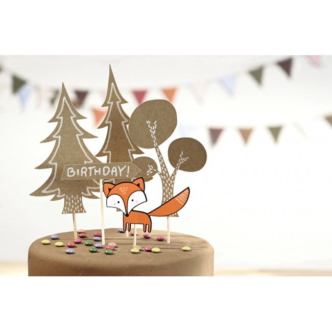 Party Deco - Toperi za tortu šumski