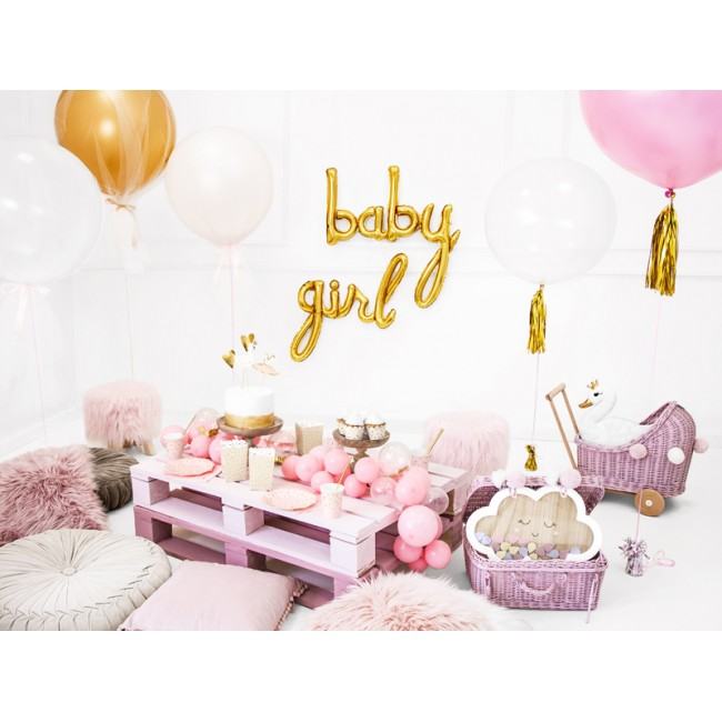 Party Deco - Beli okrugli balon