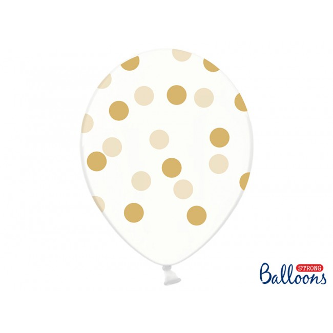 Party Deco - Balon sa zlatnim tufnama
