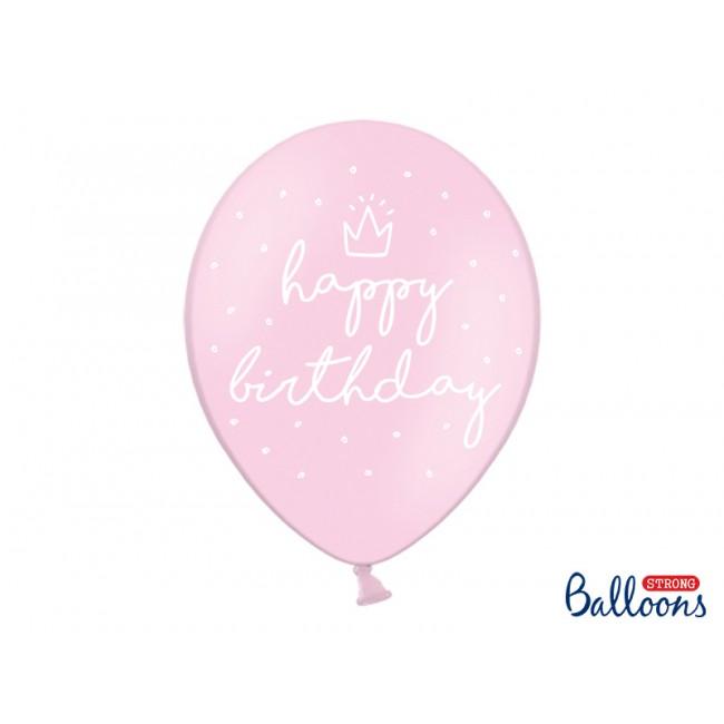 Party Deco - Happy Birthday baloni roze