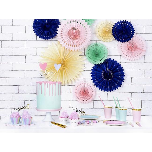 Party Deco - Drveni pribor za jelo, svetlo roze