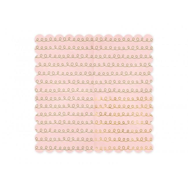 Party Deco - Salvete puder roze