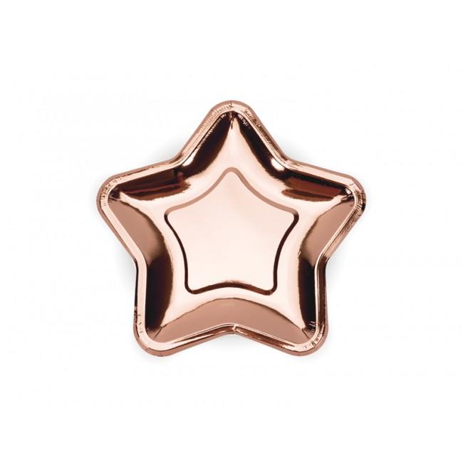 Party Deco - Tanjiri zvezda, roze zlatni