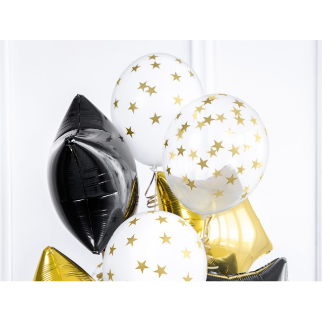 Party Deco - Balon sa zlatnim zvezdicama