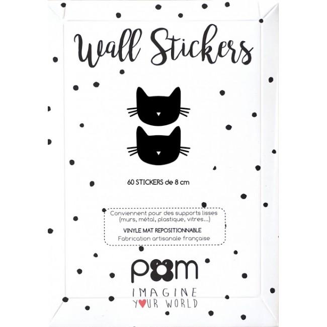 Pom - Crne mace stikeri za zid