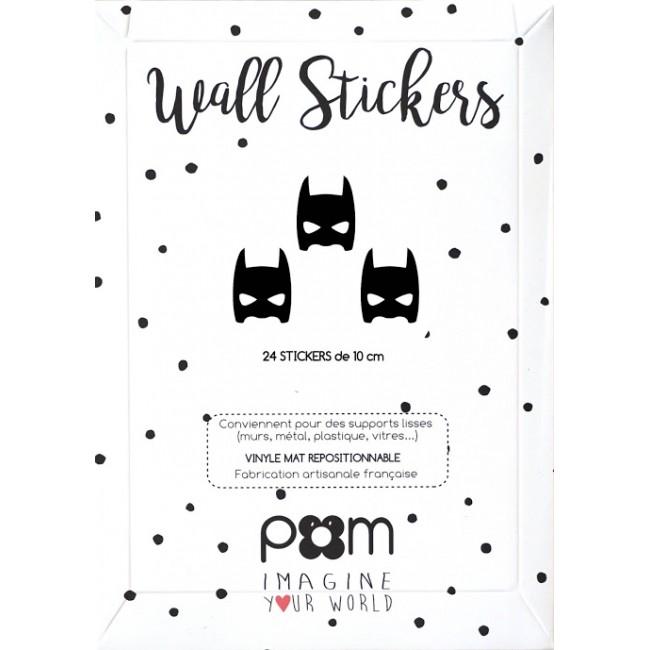 Pom - Crne maske stikeri za zid