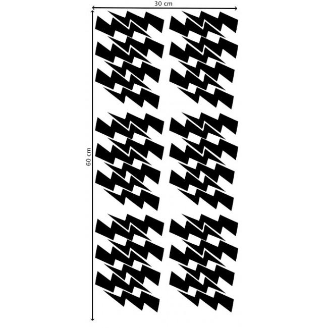 Pom - Crne munje stikeri za zid