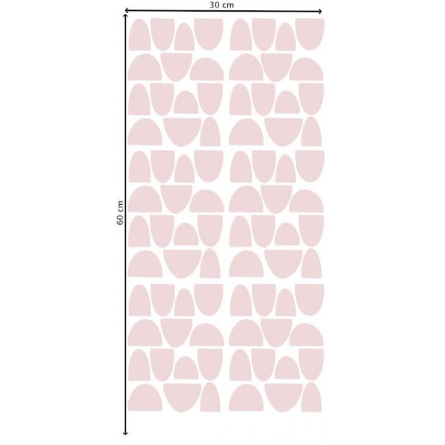 Pom - Roze polukružići stikeri za zid