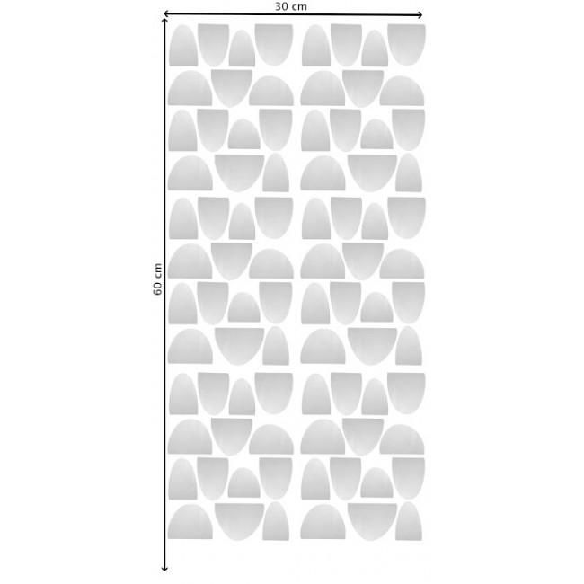 Pom - Srebrni polukružići stikeri za zid