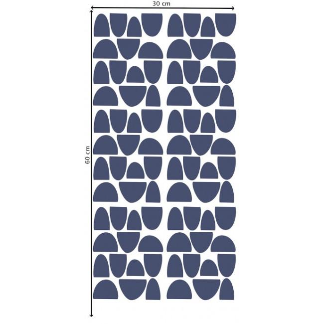 Pom - Teget polukružići stikeri za zid