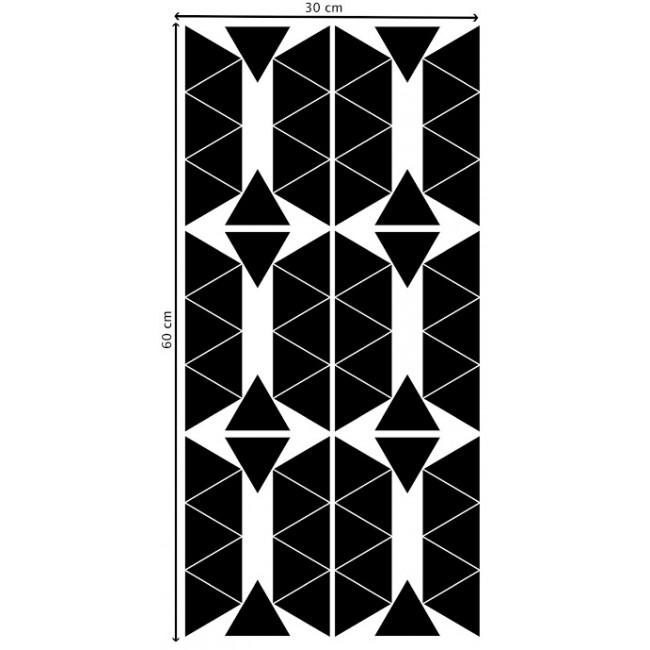 Pom - Crni trouglići stikeri za zid