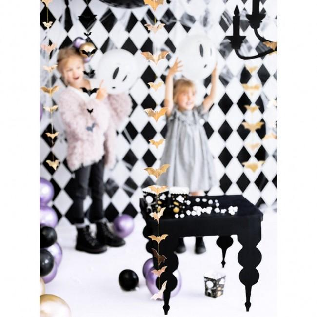 Party Deco - Garland zlatni šišmiši