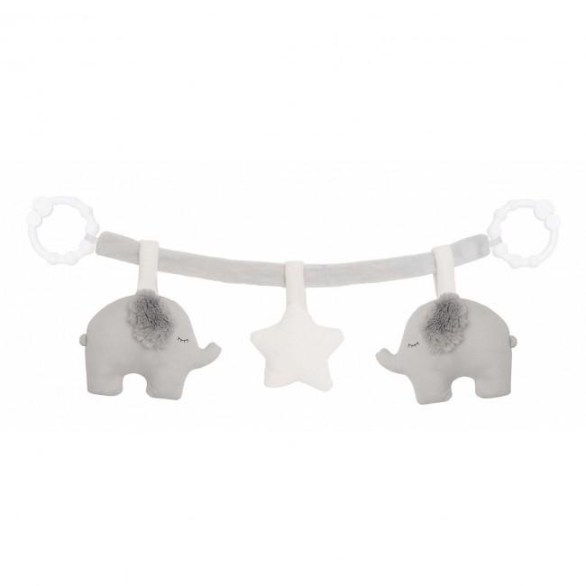 Jabadabado - Igračke za kolica sivi slončići