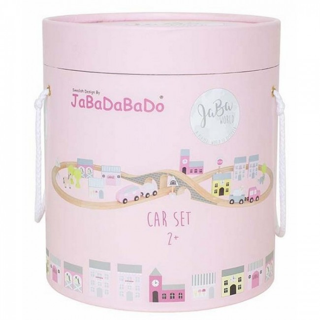 Jabadabado - Car set roze