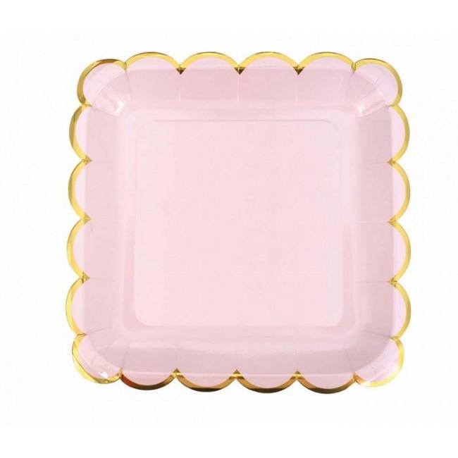 Jabadabado - Kartonski tanjiri roze