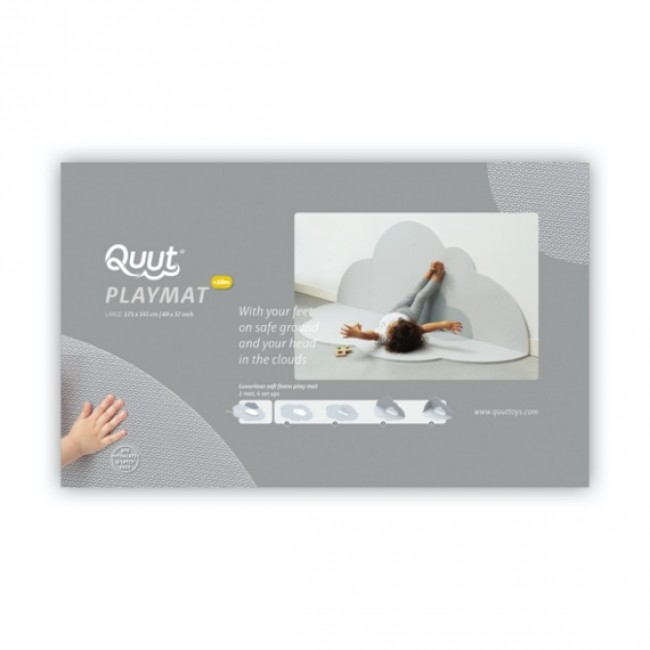 Quut - Playmat Head in the clouds - Pearl Grey, Large