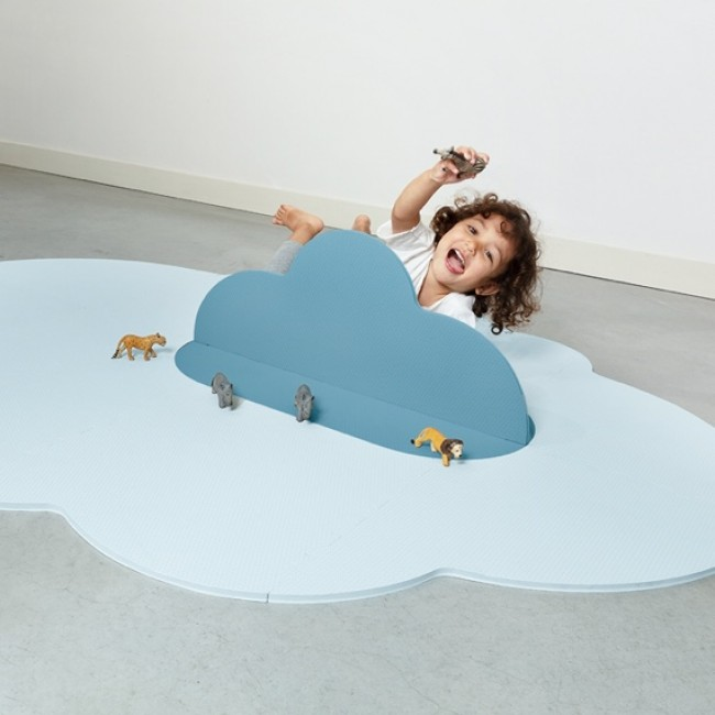 Quut - Playmat Head in the clouds - Dusty Blue, Large
