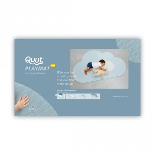 Quut - Playmat Head in the clouds - Dusty Blue, Small