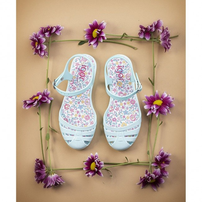 Igor - Mara Mini Flores Aguamarina sandale